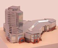 Modelo del edificio. Fotos de archivo
