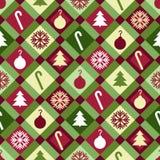 Modelo del edredón de la Navidad Imágenes de archivo libres de regalías