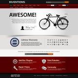 Modelo del elemento del Web site del diseño de Web Imágenes de archivo libres de regalías