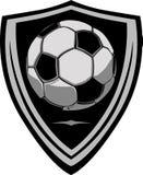 Modelo del fútbol con el blindaje Imagen de archivo libre de regalías