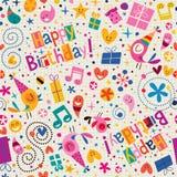 Modelo del feliz cumpleaños ilustración del vector