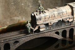 Modelo del ferrocarril en el puente Imagen de archivo