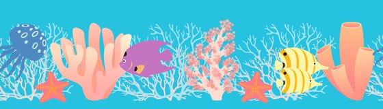 Modelo del filón coralino Fotos de archivo libres de regalías