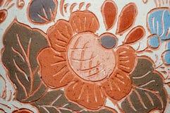 Modelo del florero de la cerámica de la arcilla fotografía de archivo