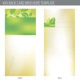 modelo del folleto de la tarjeta del estante 4x9 ilustración del vector