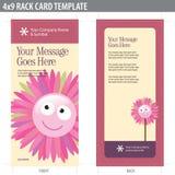 modelo del folleto de la tarjeta del estante 4x9 Imagenes de archivo