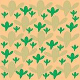Modelo del fondo beige del cactus verde y verde claro libre illustration