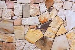 Modelo del fondo colorido decorativo de la pared de piedra Pared abstracta de la textura de la pared de piedra imagen de archivo libre de regalías