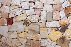Modelo del fondo colorido decorativo de la pared de piedra Pared abstracta de la textura de la pared de piedra foto de archivo libre de regalías