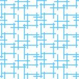Modelo del fondo con laberinto neto azul sin fin abstracto stock de ilustración
