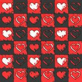 Modelo del fondo con los corazones Fotografía de archivo libre de regalías