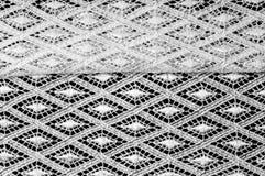 Modelo del fondo de la textura Tela blanca de encaje Cordón de la mano en un wh stock de ilustración