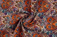 Modelo del fondo de la textura Modelo tradicional de Paisley del indio Fotografía de archivo libre de regalías