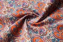 Modelo del fondo de la textura Modelo tradicional de Paisley del indio Imagenes de archivo