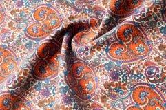 Modelo del fondo de la textura Modelo tradicional de Paisley del indio Imagen de archivo