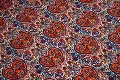 Modelo del fondo de la textura Modelo tradicional de Paisley del indio Foto de archivo