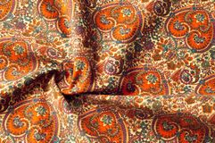 Modelo del fondo de la textura Modelo tradicional de Paisley del indio Fotografía de archivo