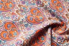 Modelo del fondo de la textura Modelo tradicional de Paisley del indio Imagen de archivo libre de regalías