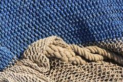 Modelo del fondo de la vida de las redes de pesca aún Foto de archivo libre de regalías