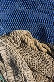 Modelo del fondo de la vida de las redes de pesca aún Imagen de archivo libre de regalías