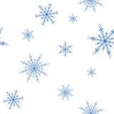 Modelo del fondo de los copos de nieve Fotos de archivo libres de regalías