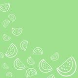Modelo del fondo de los fruts del verano en vector Fotos de archivo