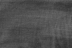 Modelo del fondo del dril de algodón negro Jean Texture Fotos de archivo