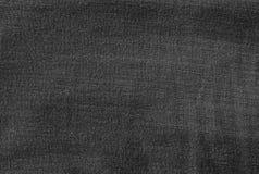 Modelo del fondo del dril de algodón negro Jean Texture Imagen de archivo libre de regalías