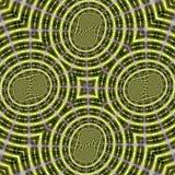Modelo del fractal en color verde foto de archivo