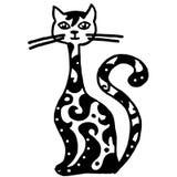 Modelo del gatito con el cuello largo stock de ilustración