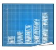 Modelo del gráfico de barra Fotografía de archivo libre de regalías