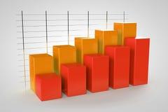Modelo del gráfico de negocio 3d en el fondo blanco Imagen de archivo libre de regalías