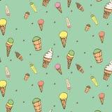 Modelo del helado Imágenes de archivo libres de regalías