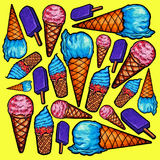 Modelo del helado Imagenes de archivo