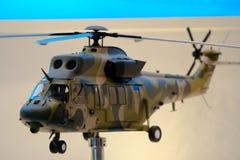 Modelo del helicóptero en el salón aeronáutico 2010 de Singapur Fotografía de archivo libre de regalías