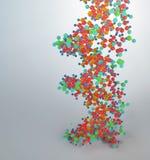 Modelo del hilo de la DNA Imagen de archivo libre de regalías