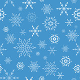 Modelo del invierno con los copos de nieve Foto de archivo libre de regalías