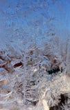 Modelo del invierno sobre el vidrio Fotos de archivo