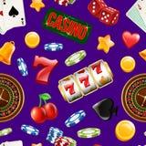 Modelo del juego del casino del vector o ejemplo realista del fondo ilustración del vector