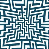Modelo del laberinto de la geometría del extracto del gráfico de vector Fondo geométrico inconsútil azul Fotos de archivo libres de regalías