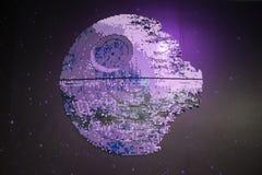 Modelo del lego de la estrella de la muerte de Star Wars foto de archivo