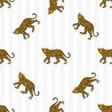 Modelo del leopardo ilustración del vector