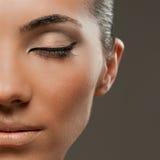 Modelo del maquillaje de la manera de la belleza Fotos de archivo