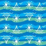 Modelo del mar con los yates Libre Illustration