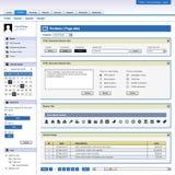Modelo del marco del elemento del diseño de Web Imágenes de archivo libres de regalías