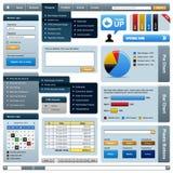 Modelo del marco del elemento del diseño de Web Fotos de archivo