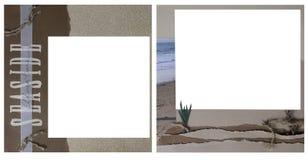 Modelo del marco del libro de recuerdos del tema del océano Foto de archivo