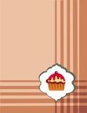 Modelo del menú de la magdalena Fotografía de archivo libre de regalías