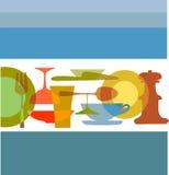 Modelo del menú del restaurante Imagen de archivo libre de regalías