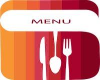 Modelo del menú del restaurante con colores del gradiente Foto de archivo